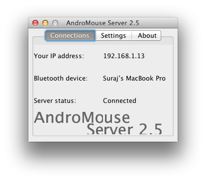 AndroMouse Server