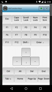 AndroMouse Function Keys