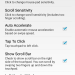AndroMouse Settings